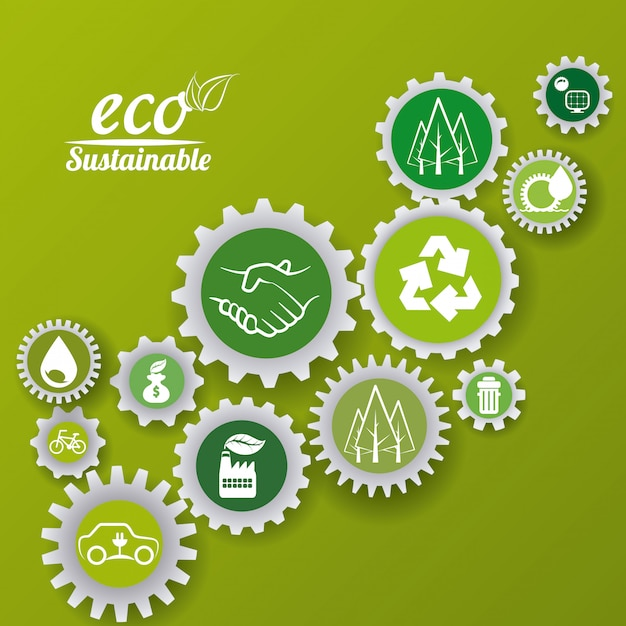Eco sustainibility Premium Vector