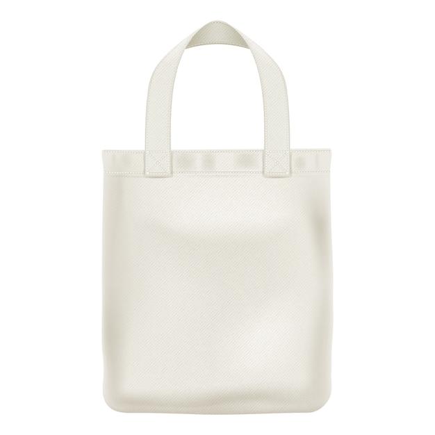 Eco textile tote shopper bag illustration. Premium Vector