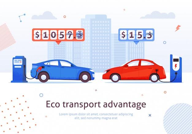 Eco transport advantage. Premium Vector