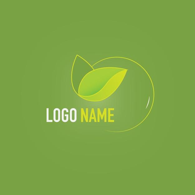 Шаблон логотипа eco Бесплатные векторы