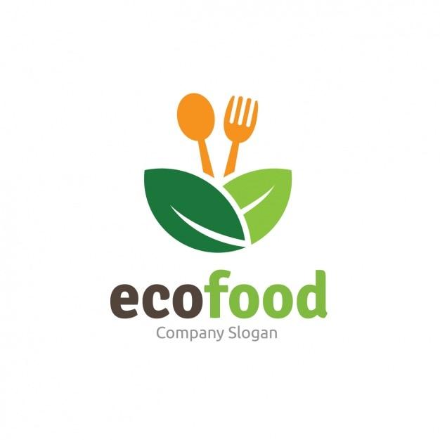 Ecofood шаблон логотипа Бесплатные векторы