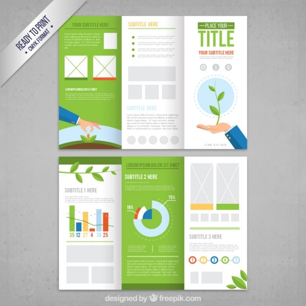 ecological brochure template free vector