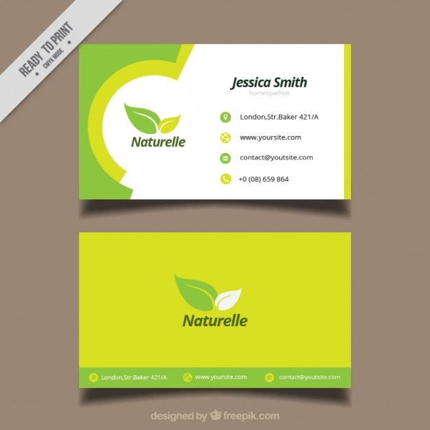 Ecological Card With Leaves Vector Free Download