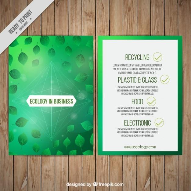Ecological company brochure