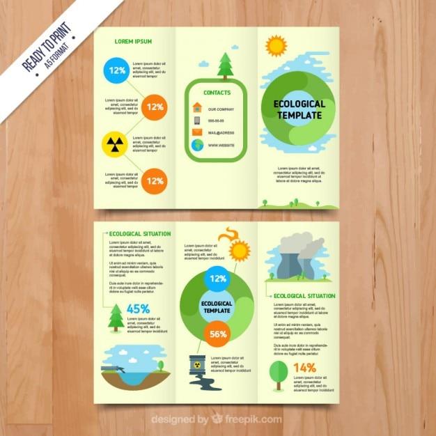 Ecological infographic brochure Premium Vector