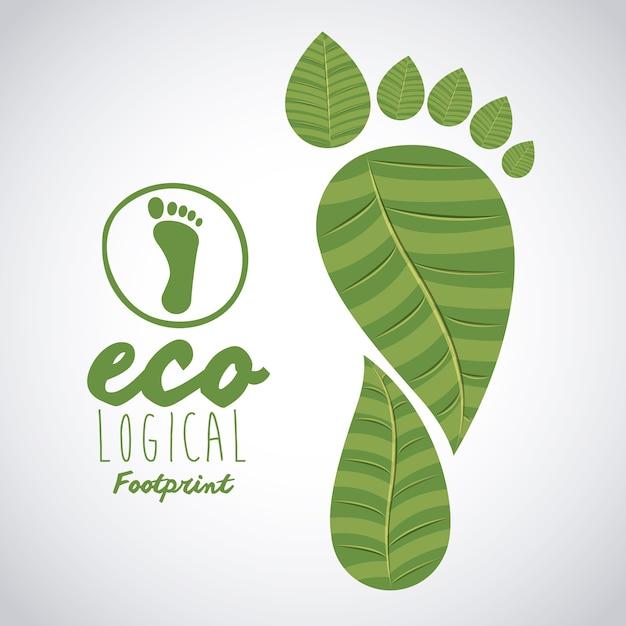 Ecological leaves design Premium Vector