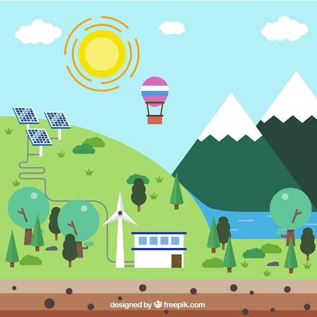 Ecological place Free Vector