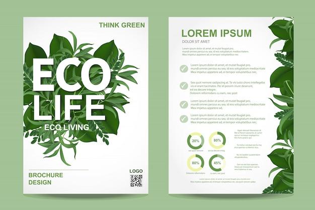 Ecology brochure flyer Premium Vector