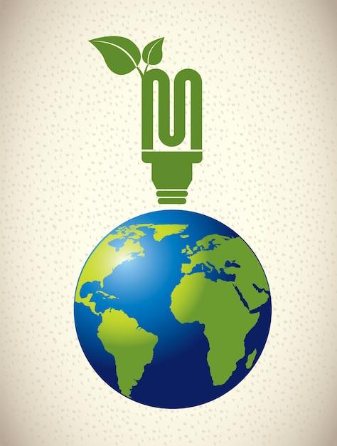 Ecology  bulb Free Vector