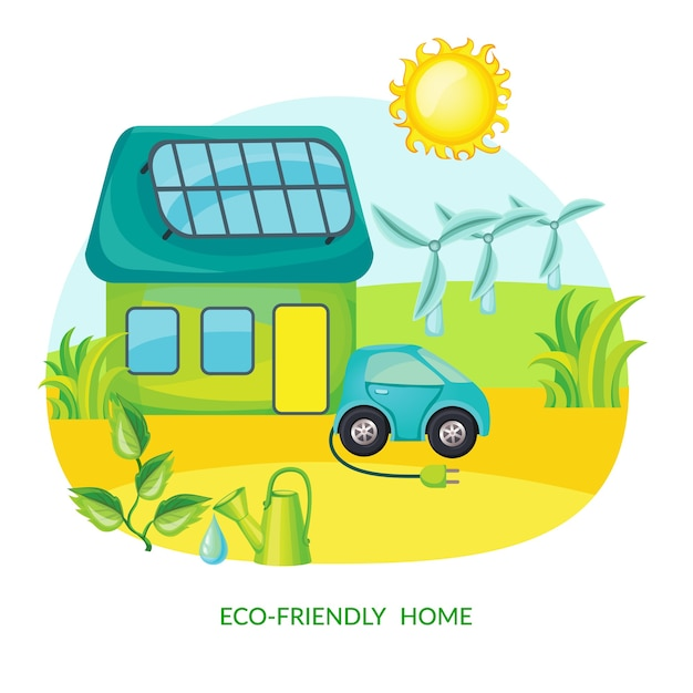 Ecology cartoon Free Vector