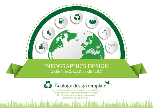Ecology connection Premium Vector