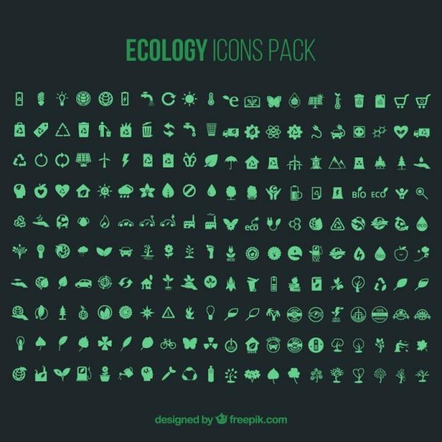 Экология icons pack - 200 икон Бесплатные векторы