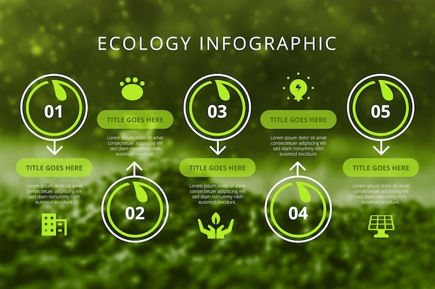 Free Vector | Ecology infographic with photo