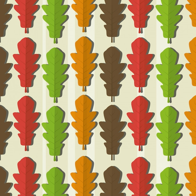 Ecology leaves pattern Free Vector
