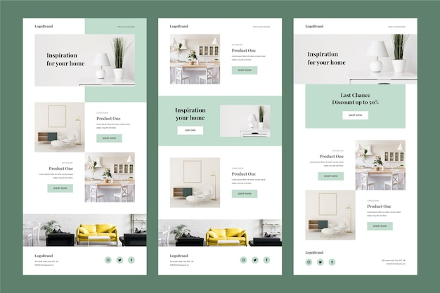 Ecommerce email template Free Vector