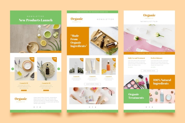 Ecommerce email template Premium Vector