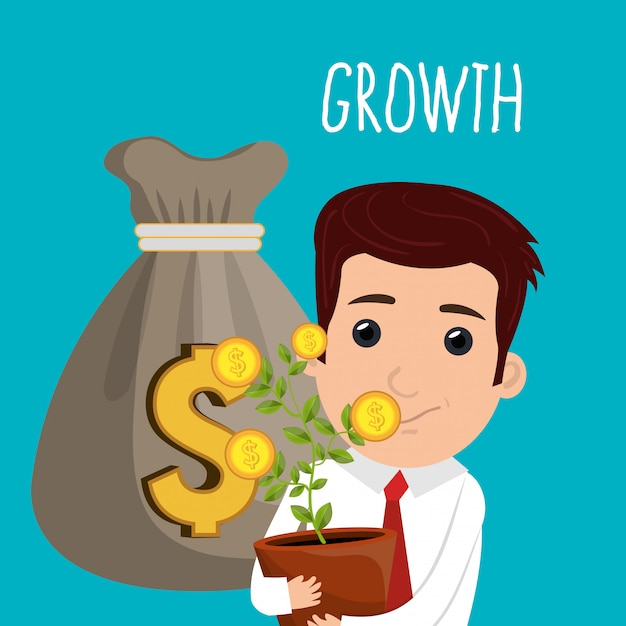 Economic growth Free Vector
