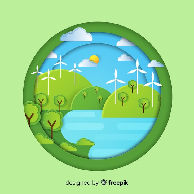 Ecosystem concept in flat style Free Vector