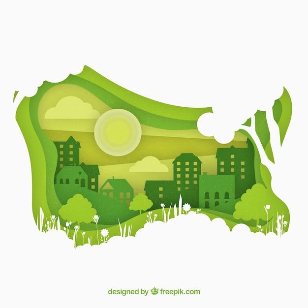 Ecosystem concept Free Vector