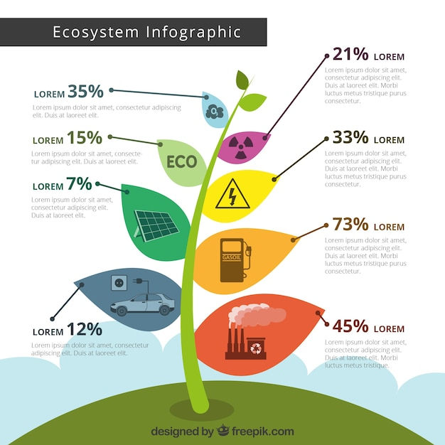 Ecosystem infographic concept Free Vector