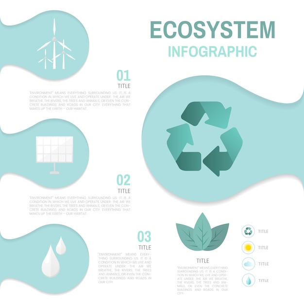 Ecosystem infographic environmental conservation vector Free Vector