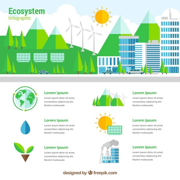 Ecosystem infographics Free Vector