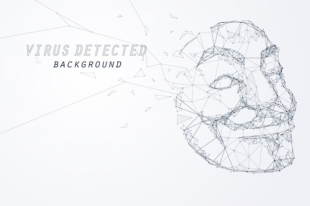 Edge and vertex of anonymous hacker mask Premium Vector