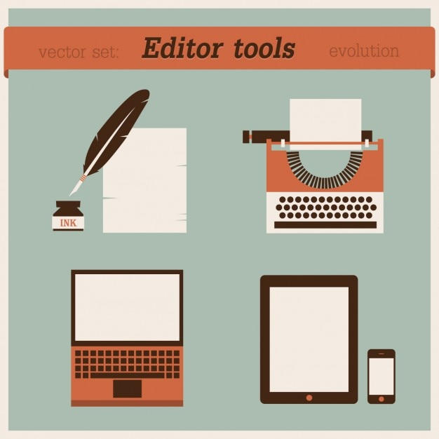 Edit Tools Evolution Design Vector Free Download