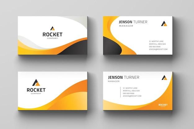 編集可能で、名刺テンプレートを印刷する準備ができています Premiumベクター