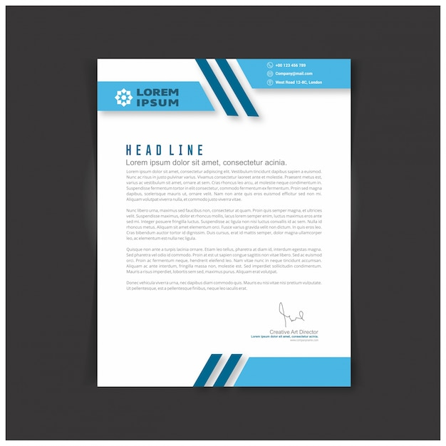 Editable Business Letter Template Vector Free Download