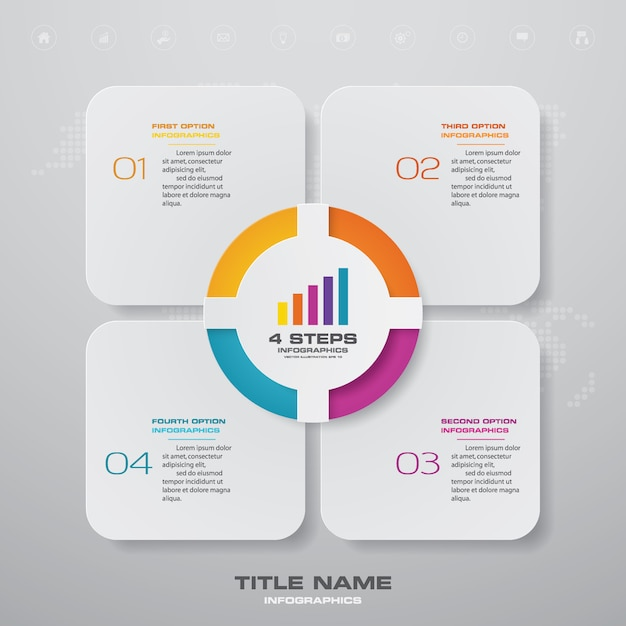 Editable chart Premium Vector