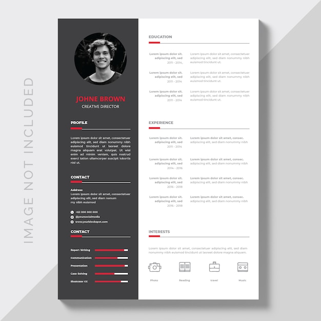editable cv format download vector