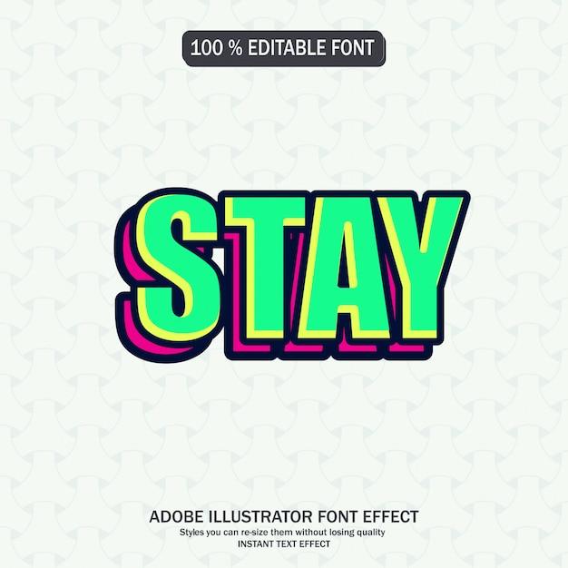 Editable font effect Premium Vector