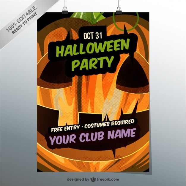 Kids Halloween Party Flyer Templates Free Eczalinf