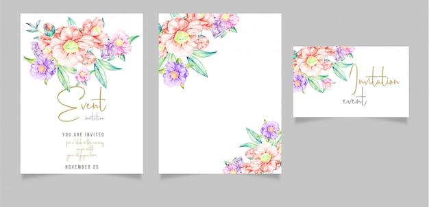 Editable invitation card design with Premium Vector