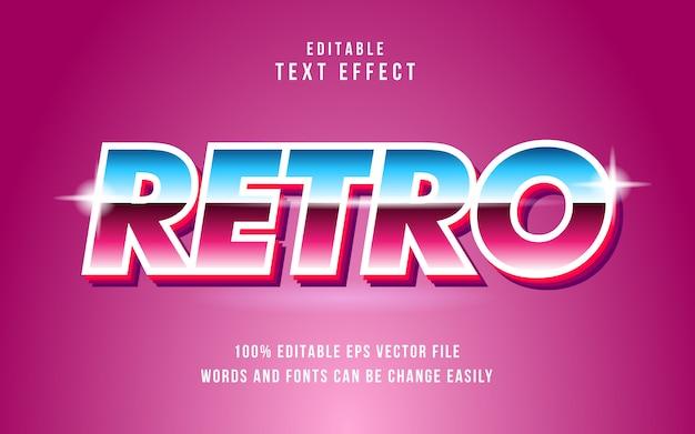 Editable retro text effect Premium Vector