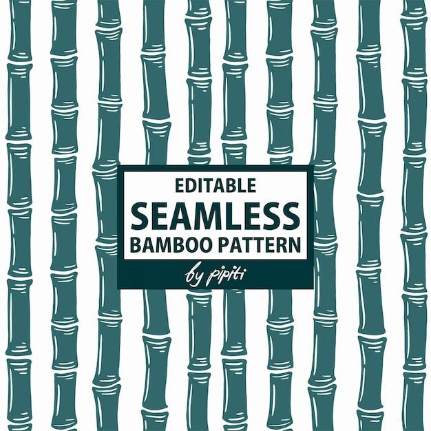 Editable seamless bamboo pattern Premium Vector