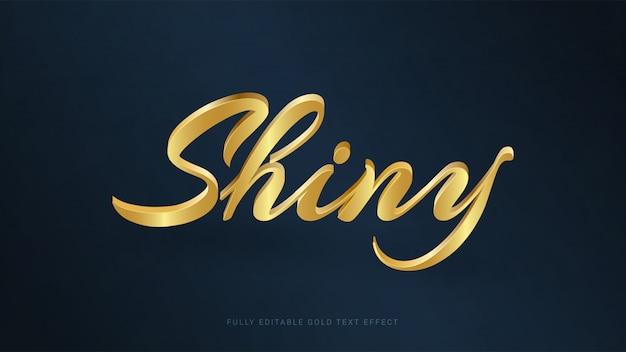 Editable shiny gold text effect Premium Vector