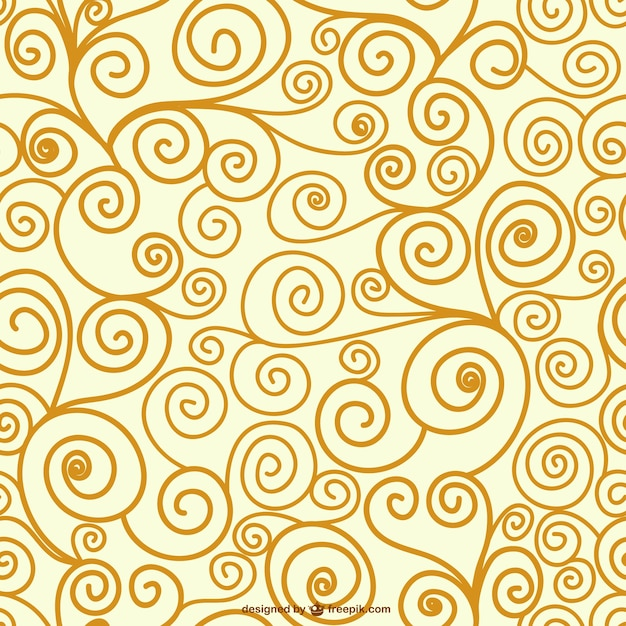 Editable swirl seamless pattern Vector | Free Download