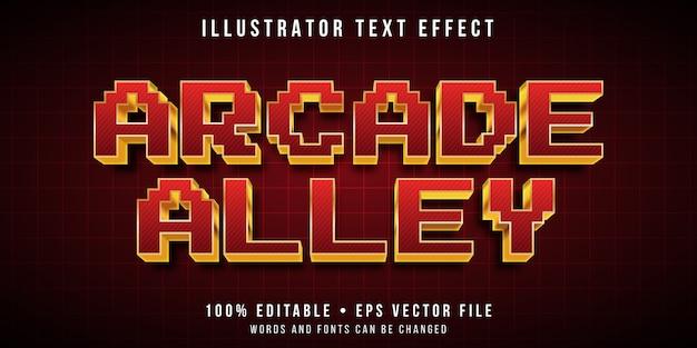 편집 가능한 텍스트 효과-3d 아케이드 픽셀 스타일 프리미엄 벡터