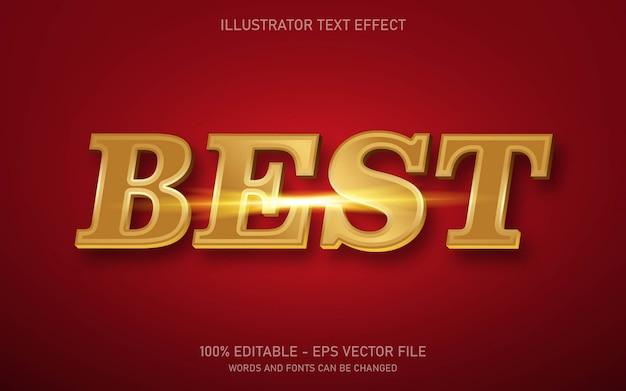 Редактируемый текстовый эффект, иллюстрации в стиле best gold Premium векторы