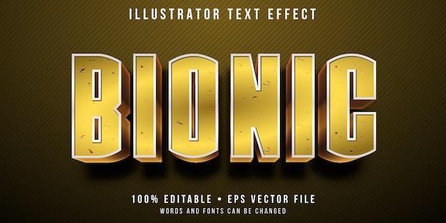 Editable text effect - bionic human style Premium Vector
