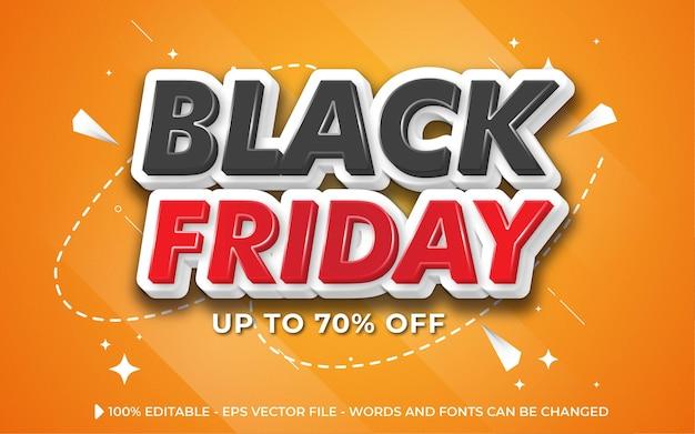 Banner Black Friday hiệu ứng văn bản có thể chỉnh sửa, Vector cao cấp