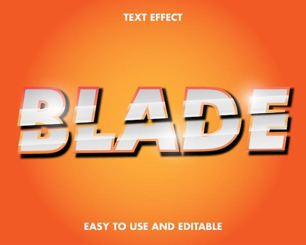 編集可能なテキスト効果-ブレードワード。使いやすく編集可能。プレミアムベクトルイラスト Premiumベクター