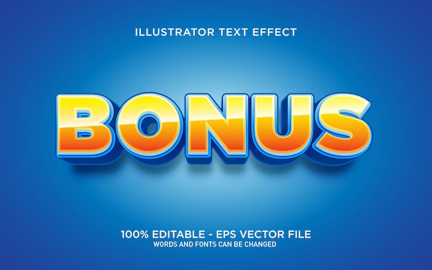 Editable text effect, bonus text style illustrations Premium Vector