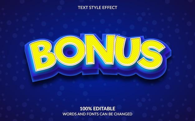 Editable text effect, bonus text style Premium Vector