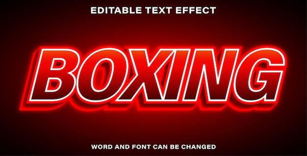 Editable text effect - boxing Premium Vector