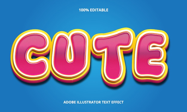 Editable text effect - candy style Premium Vector
