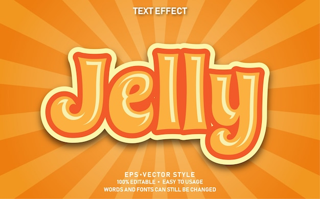 Editable text effect cute jelly Premium Vector