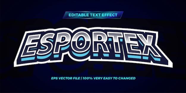Редактируемый текстовый эффект - стиль текста esportex голубого неба Premium векторы